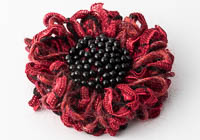 Beaded Flower Brooch