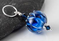 Dahlia Lampwork Pendant