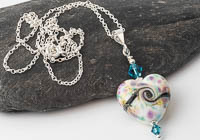 Heart Lampwork Pendant alternative view 2