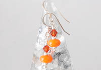 Orange Lampwork Earrings alternative view 1