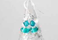 Teal Lampwork Earrings alternative view 1