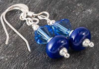 Blue Lampwork Earrings alternative view 1