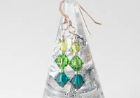 Green Sterling Silver Earrings alternative view 1