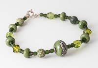 Olive Green Lampwork Bracelet alternative view 2