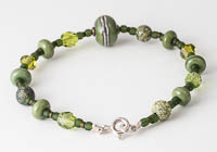 Olive Green Lampwork Bracelet alternative view 1
