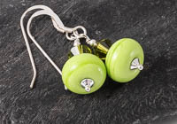 """Spring Green"" Lampwork Earrings"