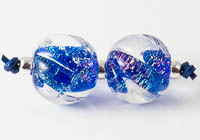 Dichroic Swirly Lampwork Beads
