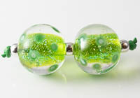 Dichroic Lampwork Dotty Beads