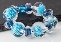 Lampwork Aster Beads