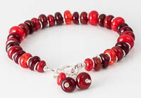 Red Lampwork Bracelet alternative view 1