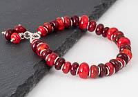 Red Lampwork Bracelet