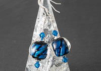 Blue Twisty Lampwork Earrings alternative view 2