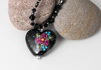 "Black Lampwork Necklace ""Ursula"""