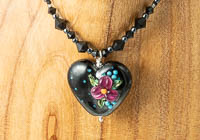 "Black Lampwork Necklace ""Ursula"" alternative view 2"