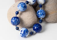Blue Lampwork Necklace alternative view 2