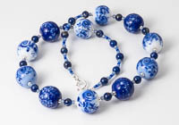 Blue Lampwork Necklace