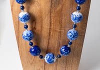 Blue Lampwork Necklace alternative view 1