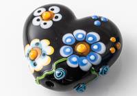 Lampwork Flowery Heart Bead