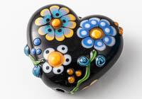 Lampwork Flowery Heart Bead alternative view 1