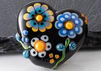 Lampwork Flowery Heart Bead alternative view 2
