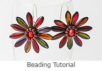 Beaded Bead Tutorial - Beaded Flower