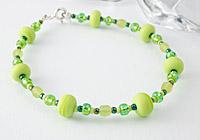 Lime Green Lampwork Bracelet